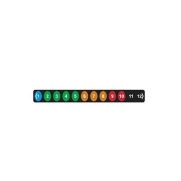 Termómetro adhesivo flexible LCD para neveras