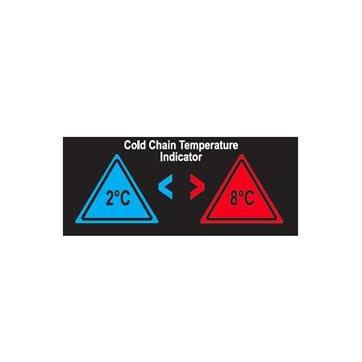 Etiqueta que muda de cor em função da temperatura para controlo da cadeia de frio