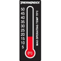 Adhesive thermometer changing its colour by the temperature