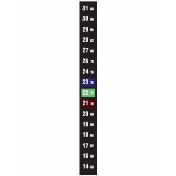 Termómetro flexível vertical do tipo LCD com 16 temperaturas