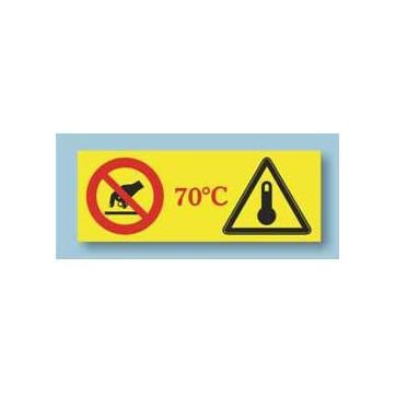 Indicador de temperatura para evitar queimaduras em riscos laborais