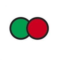 Indicador de temperatura reversível de dois estados verde e vermelho