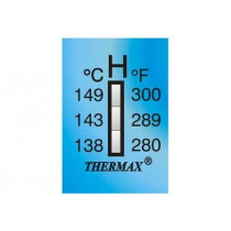 Adhesive label for 3-point temperature control