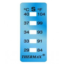 5-point irreversible temperature indicator