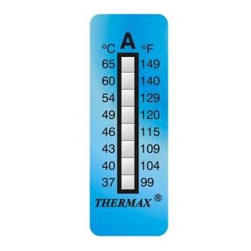 Termómetro adhesivo de 8 niveles