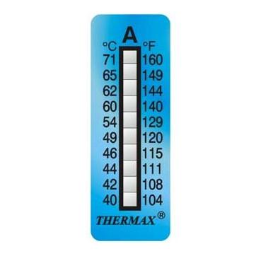 Indicador de temperatura adesivo de 10 níveis