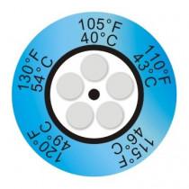 Indicador de temperatura de 5 puntos redondo