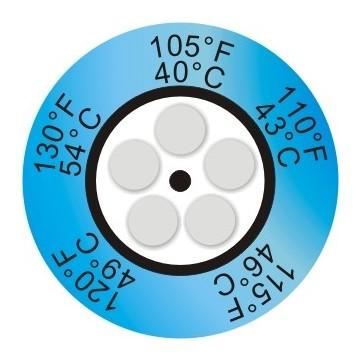 Indicador de temperatura de 5 pontos redondo