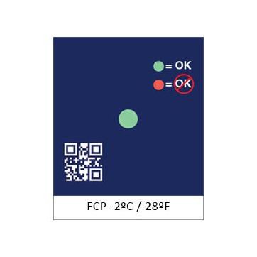FCP etiqueta para control de descenso de temperatura