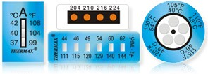 Irreversible temperature indicators