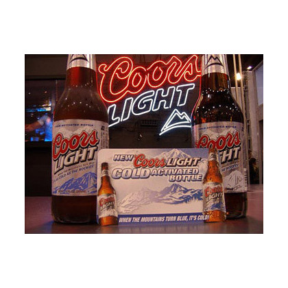 Tintas con cambio de color por temperatura Coors light