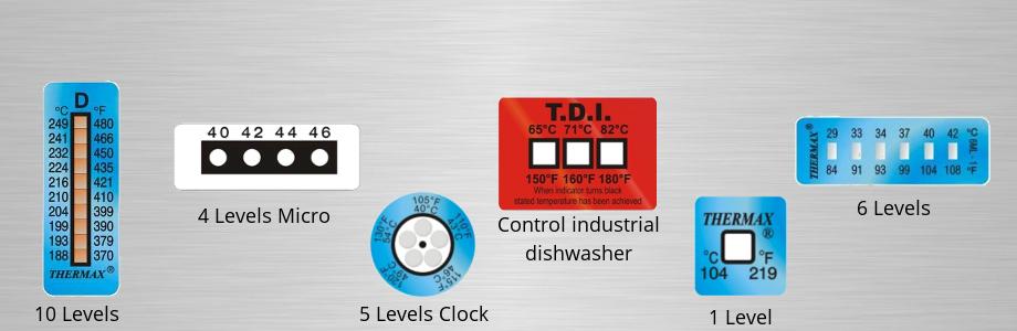 Adhesive temperature sensors