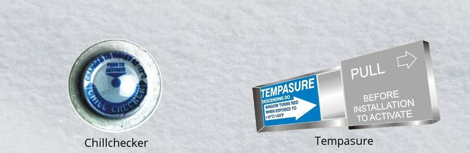 Indicadores de temperatura para control de la cadena del frío